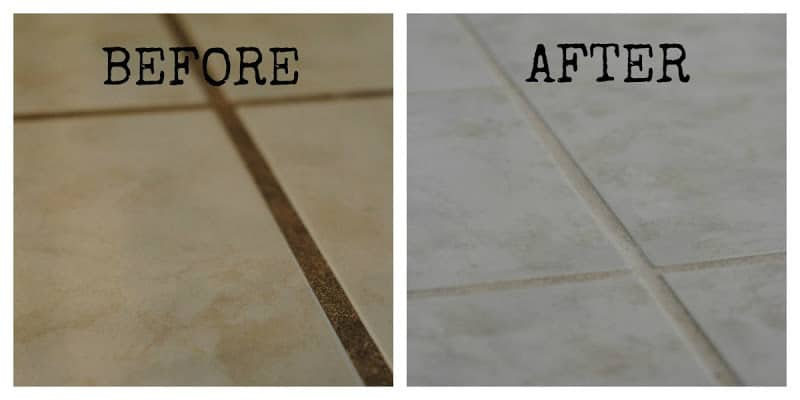 Before and After Grout