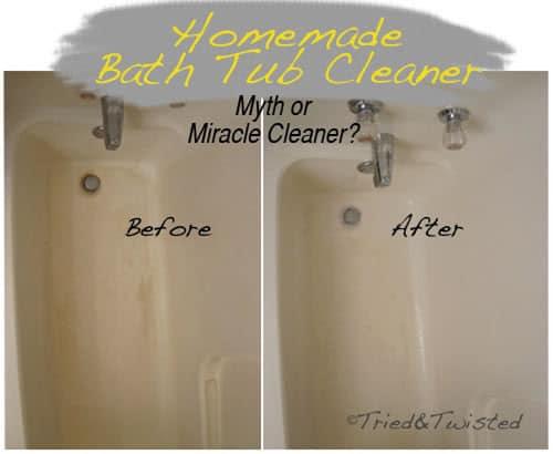 bathtub clearning solution - baking soda with vinegar