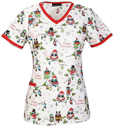 560c3b57d3e Choose this Christmas scrub if you want a simple but appealing medical  wear! The Cherokee Christmas scrub has a special cotton and Algodon  construction, ...