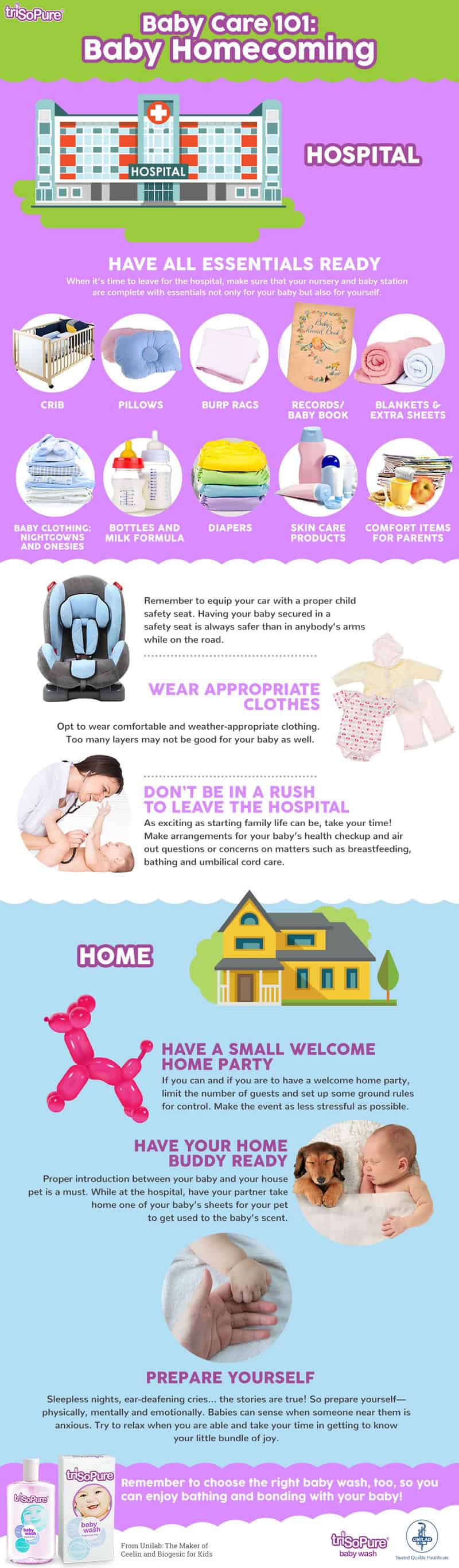 How to prepare baby Home Coming