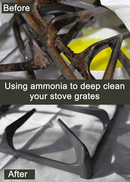 Use Ammonia to Clean Your Stove Grates
