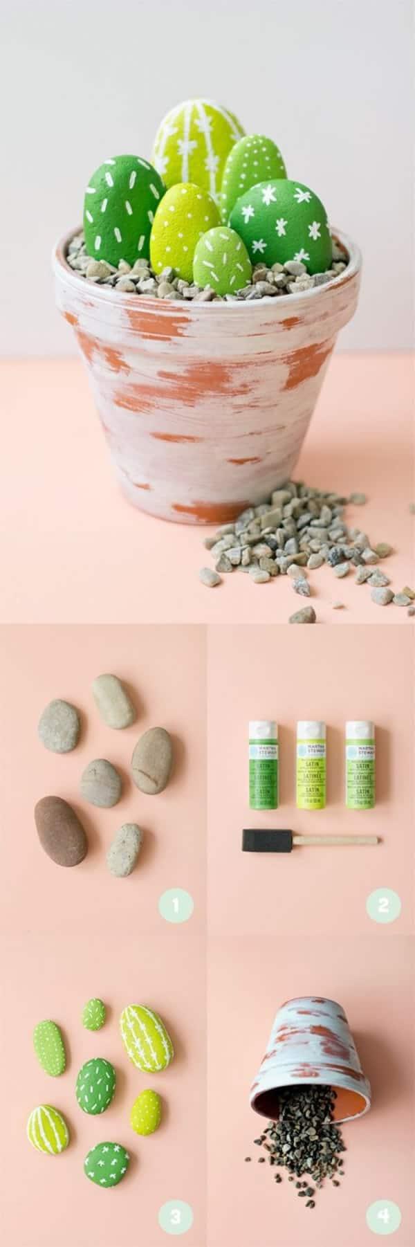 Eggs-cellent and DIY-rock-cactus