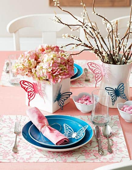 Spring Decor Dining Table