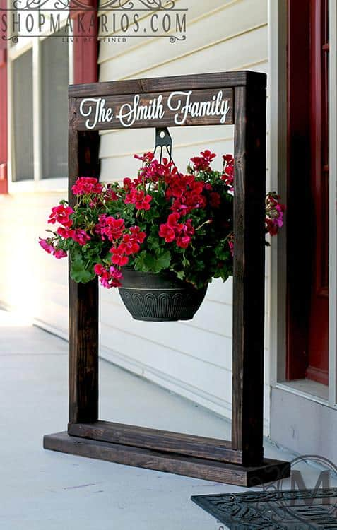 Creating this wooden frame for the Porch