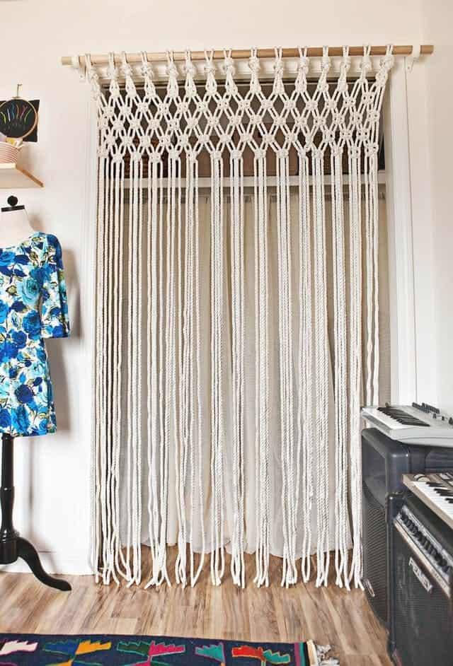 Macrame Curtain DIY for Bedroom