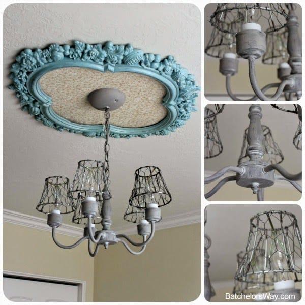 Rustic DIY lighting - Dining Room Illuminating Details