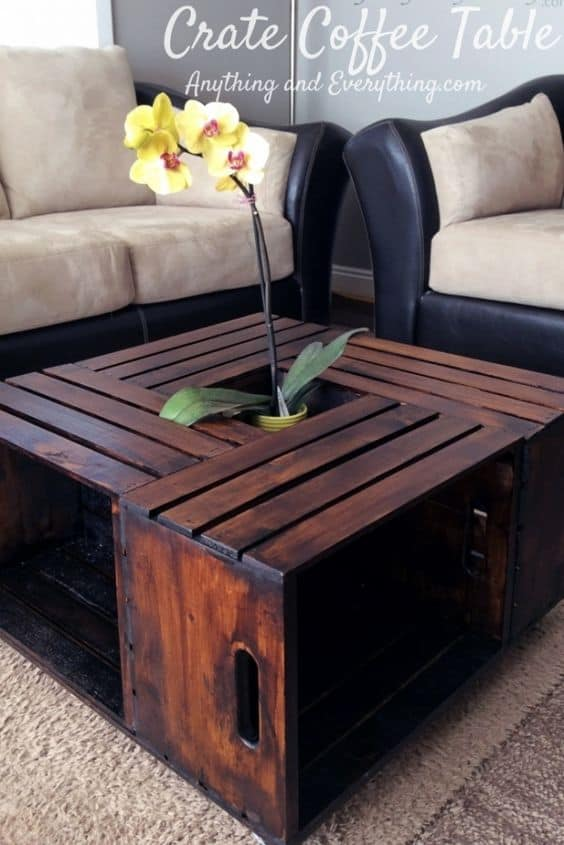 Simple Coffee Table from myanythingandeverything com