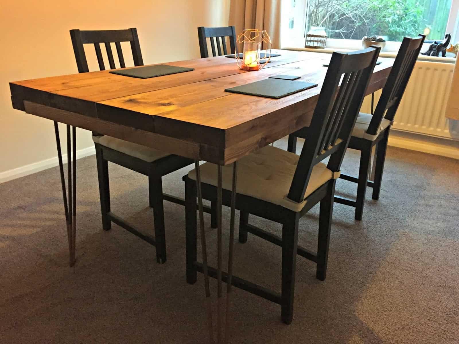 DIY Rustic Dining Table Tutorial
