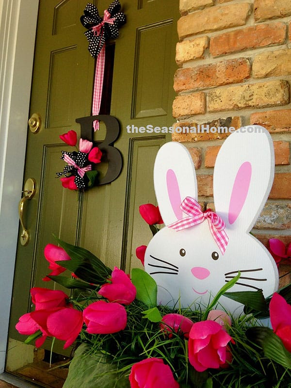 the Easter Bunnies at Porch