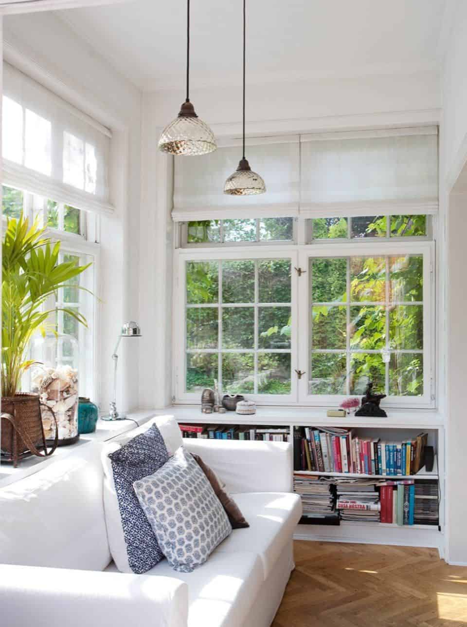 A Simple Spot to Read in Sunroom