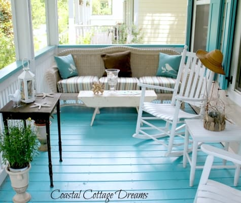 Paint The Floor in Porch