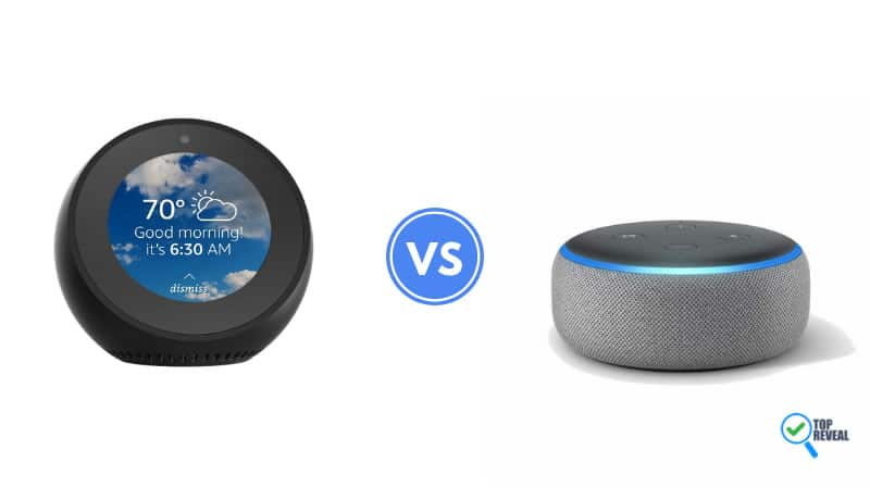 Echo Spot vs Echo Dot 2018