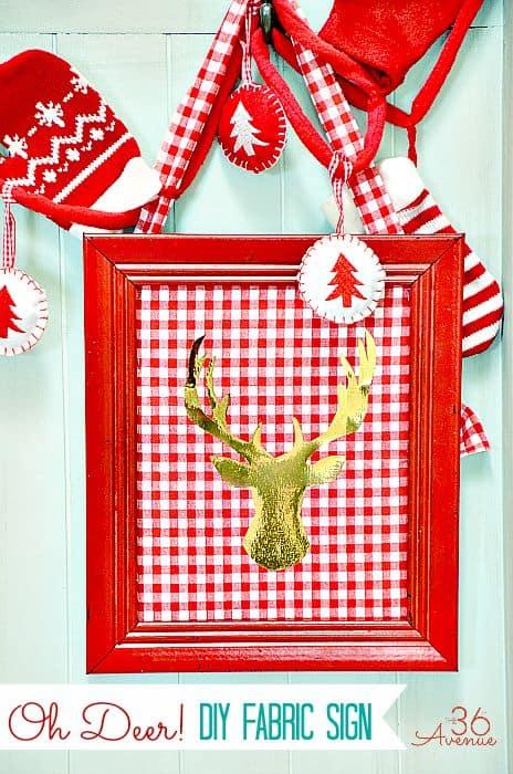 O Deer Christmas Sign