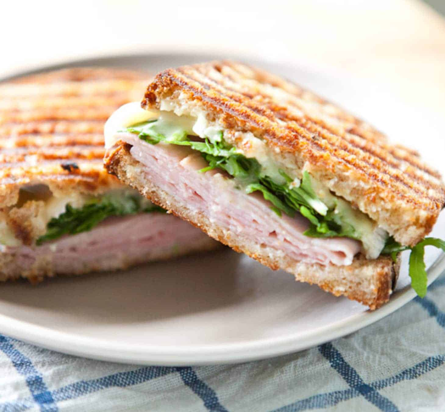 Ham and Arugula Pressed Sandwich