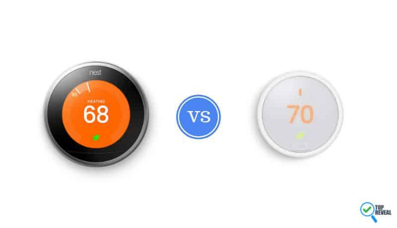Nest 3 vs Nest E Learning Thermostat