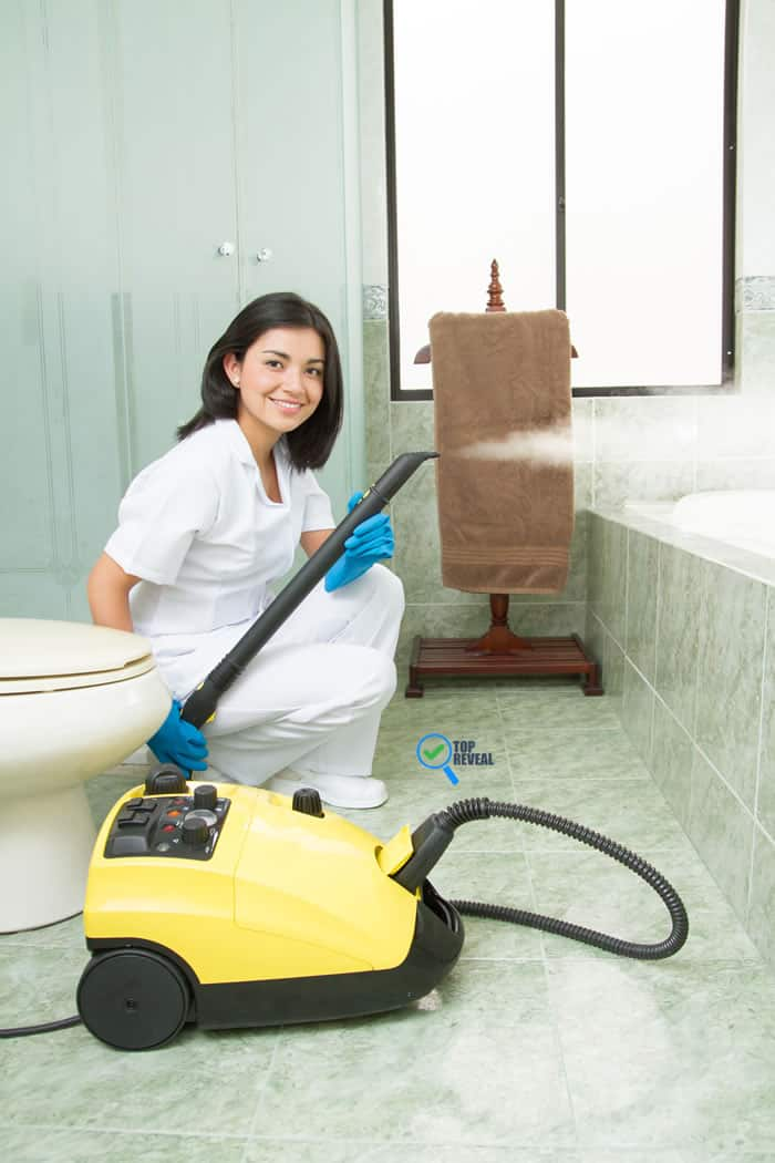how to steam clean your bathroom