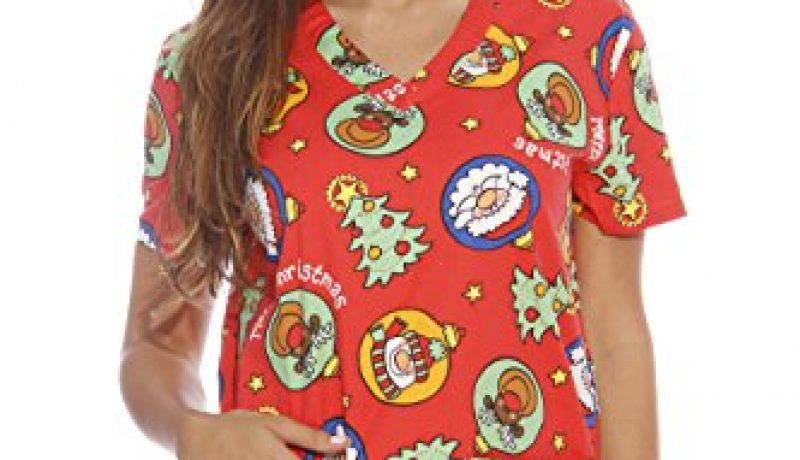 Best Christmas Holiday Scrubs for Nurses 2016-2017