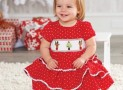 Best Christmas Holiday Smocked Dresses 2016-2017