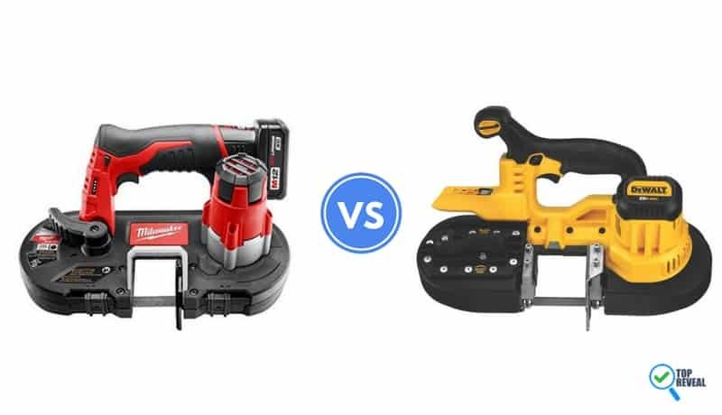 The Milwaukee 2429-21xc Vs. Dewalt DCS371B Cordless Bandsaw Review: The Powers In Your Hands