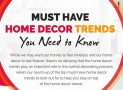 Cozy and Popular Home Decor Trends (2018) You Should Know
